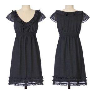 Anthro Maeve • Charmed Life Ruffle Sheath Dress